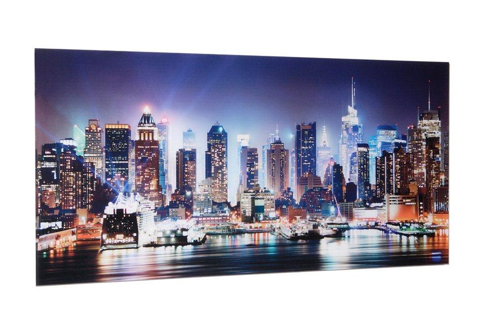 Home affaire, Glasbild, »New York City-Times Square«, 100/50 cm in schwarz