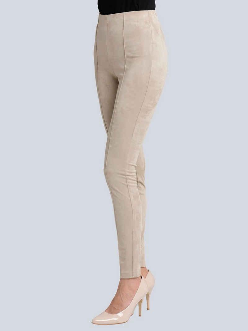 Alba Moda Leggings in edler Veloursoptik