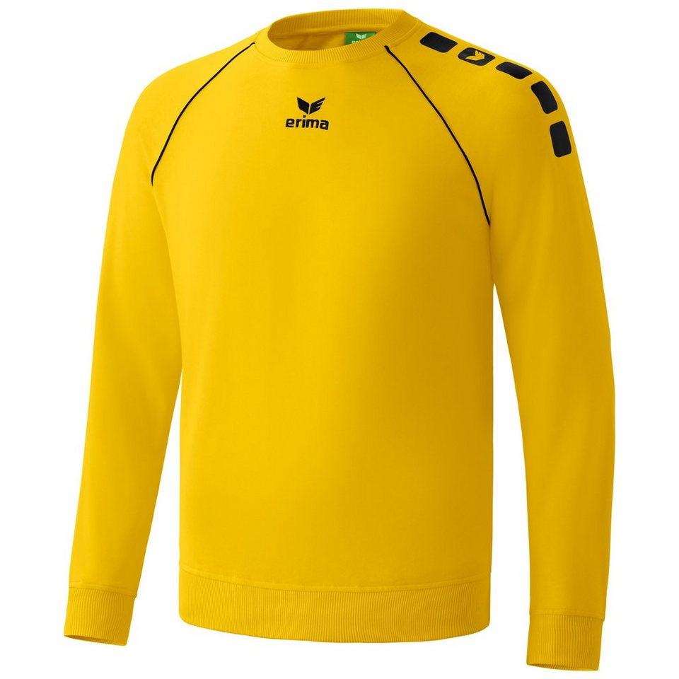 ERIMA 5-CUBES Basic Sweatshirt Herren in gelb/schwarz