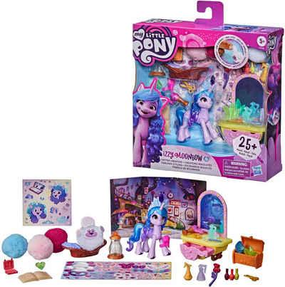 Hasbro Spielfigur »My Little Pony, A New Generation Tierchen Styling Izzy Moonbow«, mit viel Zubehör