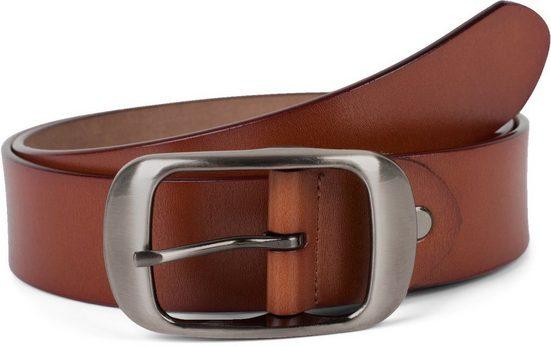 styleBREAKER Ledergürtel »Unisex Leder Gürtel Unifarben« Unisex Leder Gürtel Unifarben