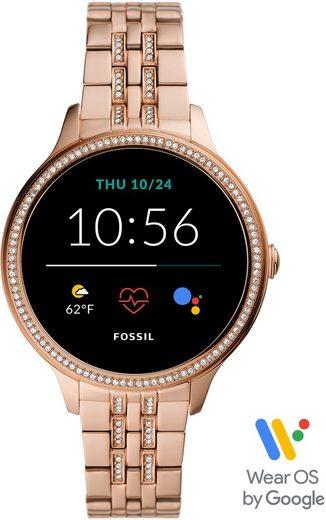 Fossil Smartwatches GEN 5E SMARTWATCH, FTW6073 Smartwatch (Wear OS by Google), mit individuell einstellbarem Zifferblatt