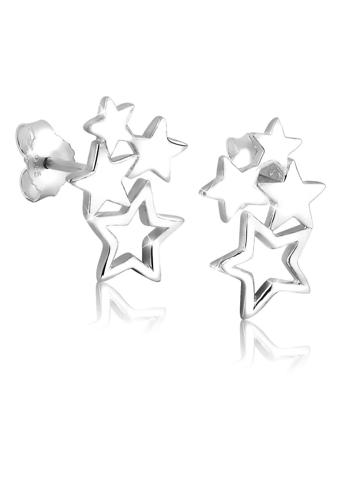 Elli Ohrringe »Sterne Stern Astro Trend Filigran 925 Silber«