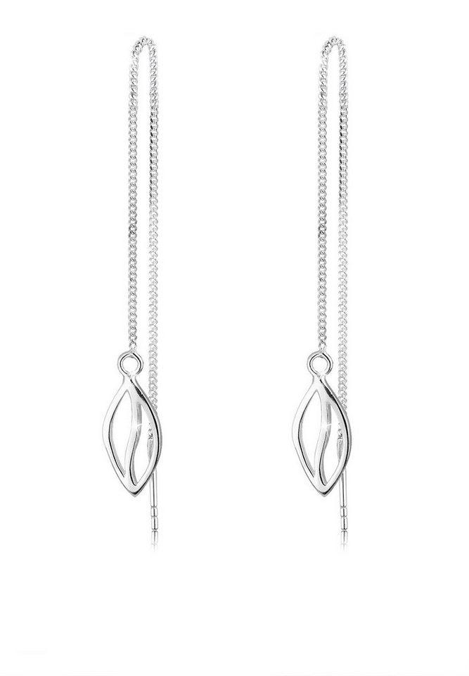 Elli Ohrringe »Blatt Elegant Filigran 925 Silber« in Silber