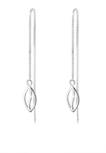 Elli Ohrringe »Blatt Elegant Filigran 925 Silber«