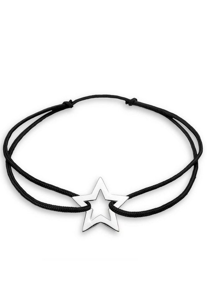 Elli Armband »Stern Nylon Silber« in Schwarz