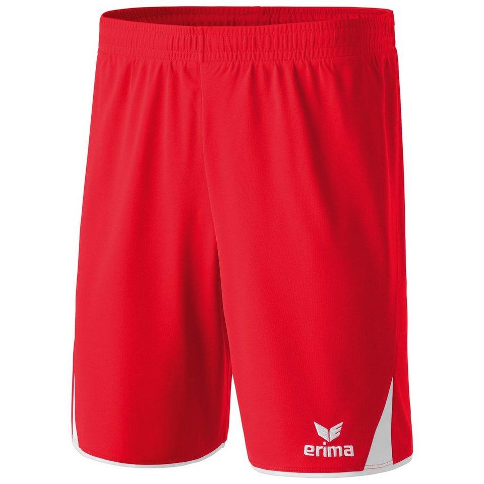 ERIMA 5-CUBES Short Kinder in rot/weiß