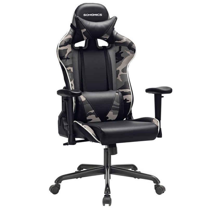 SONGMICS Gaming-Stuhl »RCG47«, Bürostuhl, Computerstuhl, schwarz-Tarnfarben