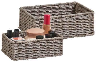 Zeller Present Aufbewahrungskorb »Aufbewahrungskörbchen« (Set, 2 Stück), ideal fürs Bad, Wohnzimmer oder Büro