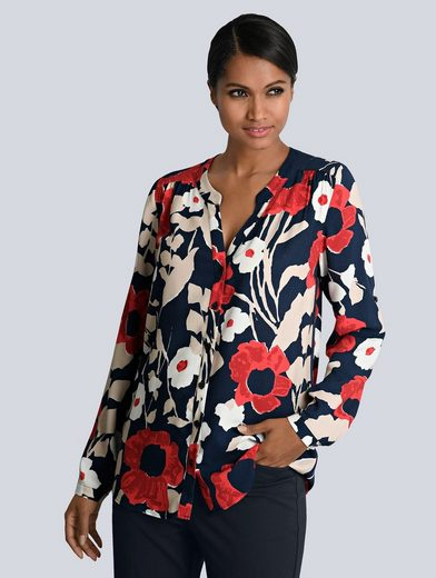 Alba Moda Bluse im Floralen Dessin