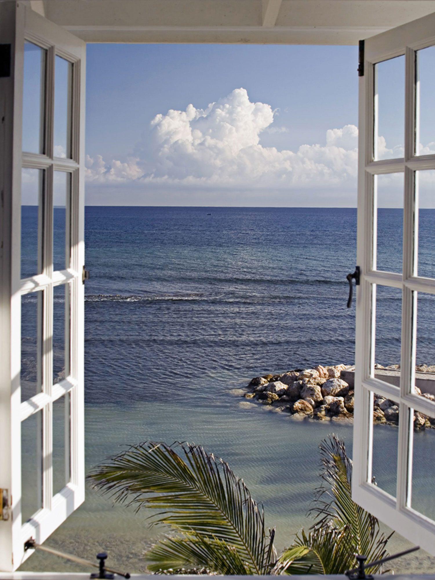 Home affaire, Glasbild, »Fenster mit Ausblick«, 60/80 cm.