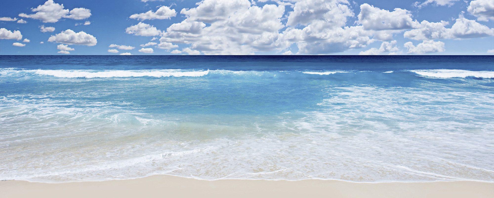 """Home Affaire, Glasbild, """"Strand und Meer"""", 125/50 cm"""