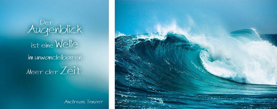 Kunstdruck, Home affaire (2er-Set), 100/40 cm in blau