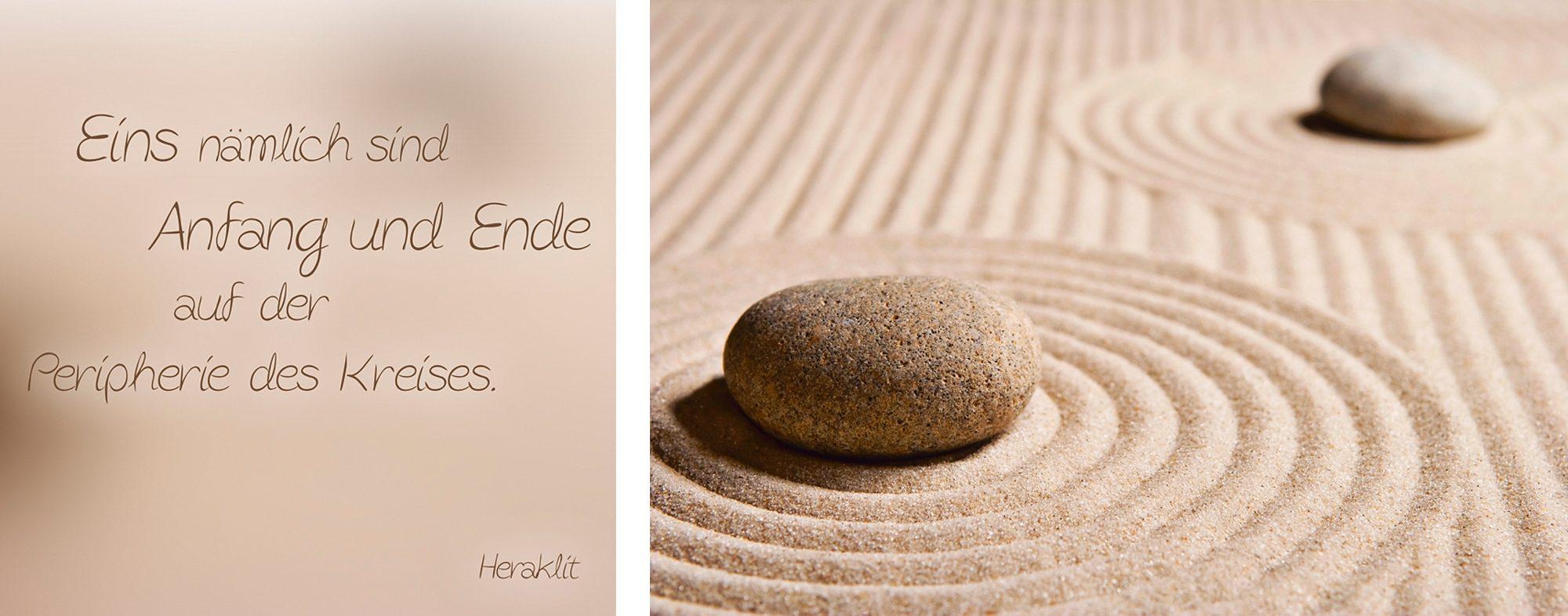 Home affaire, Leinwandbild, »Spruch + Bild: Mini Zen Garten«, 40/40 + 60/40 cm