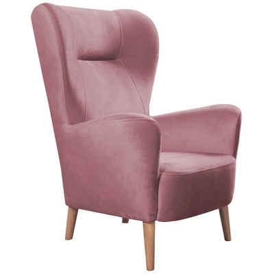 mokebo Ohrensessel »Der Verweiler«, Fernsehsessel o. Sessel in vielen Farben, optional mit Hocker
