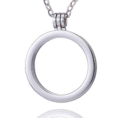 Morella Kette mit Anhänger »Damen Halskette 70 cm für Coins 33 mm« (1-tlg., Kette ohne Coin, inkl. Samtbeutel), Silberne Kette, Coin Carrier, im Samtbeutel