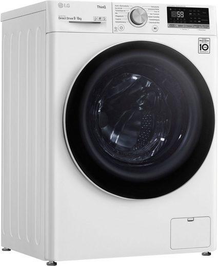 LG Waschtrockner V5WD96TW0, 9 kg, 6 kg, 1400 U/min