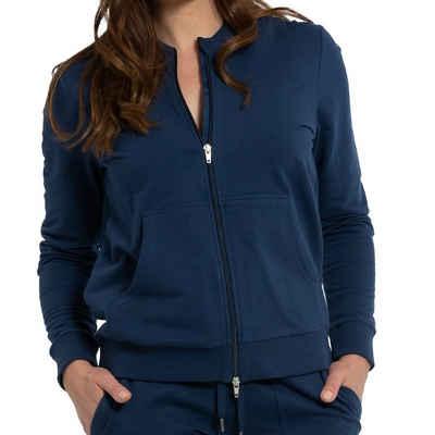 Mey Pyjamaoberteil »Night2Day Mia Sweat-Cadigan« Elastische Baumwolle, Mit Eingrifftaschen vorn, Einfach mit der passenden Hose kombinieren