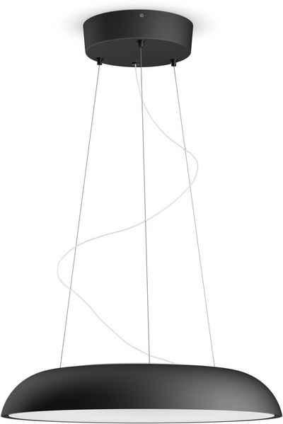 Philips Hue LED Pendelleuchte »Philips Hue White Amb. Amaze Pendelleuchte«, Hochwertige LED-Leuchte spendet natürliches weißes Licht, das Ihnen beim Energie tanken, Konzentrieren, Lesen und Entspannen hilft, Ihr Zuhause schöner gestalten mit individuellem Licht, Schalter für An/Aus, Dimmen und mit vier voreingestellten Lichtszenen (von warmweißem bis hin zu neutralweißem Tageslicht) in Lieferumfang enthalten, integrierbar in das Hue-System für App-Steuerung, Pendelleuchte in Höhe einstellbar (maximale Höhe 150 cm), Schalter kann einfach an der Wand angebracht (mittels Klebestreifen oder Schrauben) oder als Fernbedienung genutzt werden, steuerbar per Bluetooth oder Hue Bridge