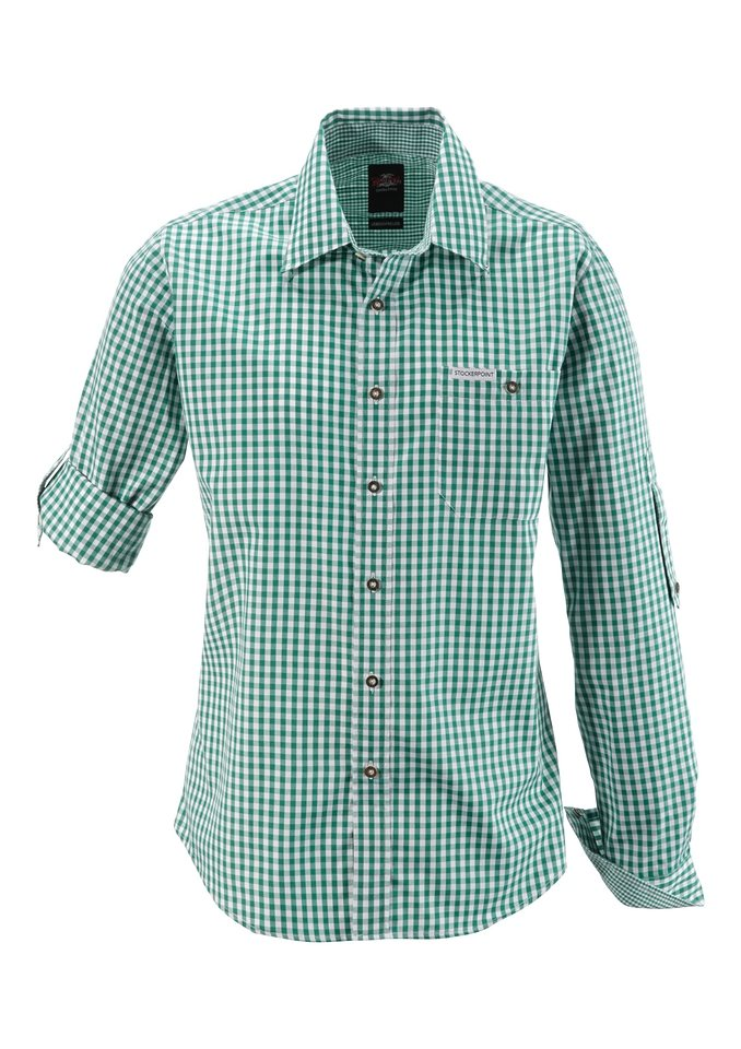Trachtenhemd, Stockerpoint in dunkelgrün