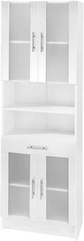 Hochschrank, Schildmeyer, »Catania«, Breite 60 cm in weiß-weiß