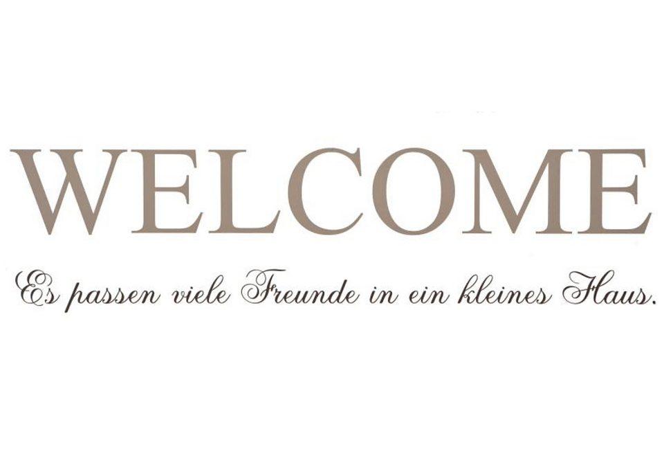 Wandspruch »WELCOME«