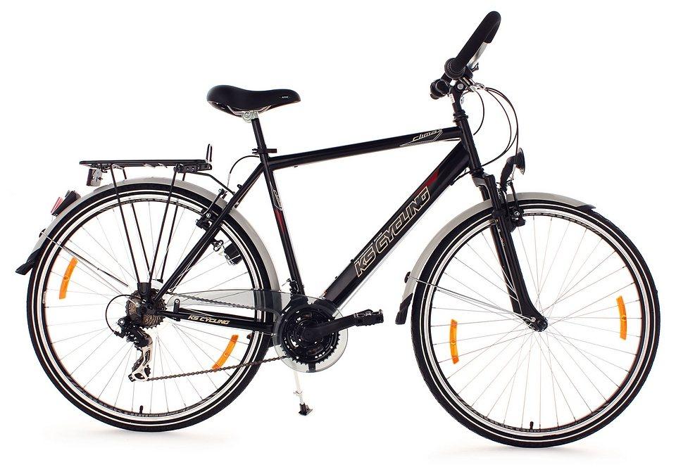 Trekkingrad Herren, KS Cycling, »CLX«, Multipositionslenker, 28 Zoll, 21 Gang Shimano Tourney in schwarz
