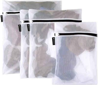 ROOXS Wäschenetz »Profi Wäschenetze, Wäschesäcke«,(4-St), robuster Reißverschluss, Trockner geeignet