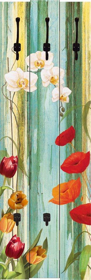 Home affaire,Garderobe »Tulpen, Mohn und Orchideen«