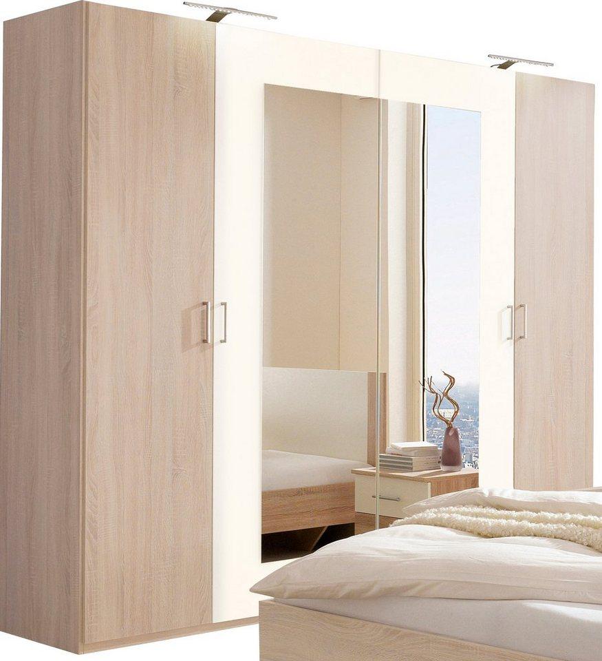 Wimex Kleiderschrank in struktureichefarben hell/weiß