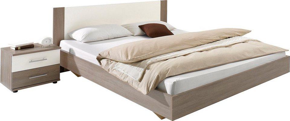 Wimex Bett in Columbia nussbaumfarben/weiß