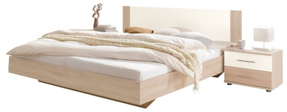Wimex Bett in struktureichefarben hell/weiß
