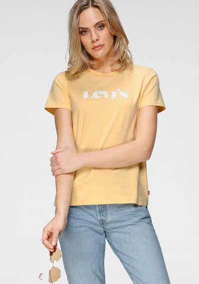 Levi's® Rundhalsshirt »The Perfect Tee« mit Marken-Schriftzug auf der Brust