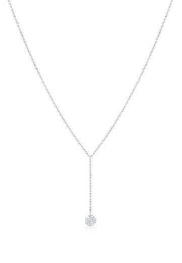 Elli Kette mit Anhänger »Y-Kette Kugel Kristalle 925 Silber«