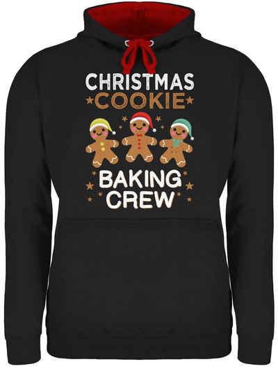 Shirtracer Hoodie »Christmas Cookie Baking Crew - 3 Kekse - Weihnachten & Silvester Geschenke - Unisex Damen & Herren Kontrast Hoodie« Neujahrsgeschenke Party Deko