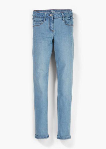 s.Oliver 5-Pocket-Jeans »Regular Fit: Slim leg-Jeans« Waschung
