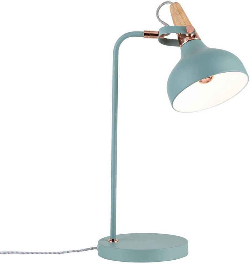 Paulmann LED Tischleuchte »Neordic Juna«, 1-flammig Softgrün/Kupfer/Holz