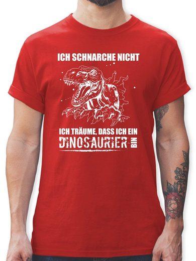 Shirtracer T-Shirt »Ich schnarche nicht. Ich träume dass ich ein Dinosaurier bin - Sprüche - Herren Premium T-Shirt - T-Shirts« t shirt sprüche herren