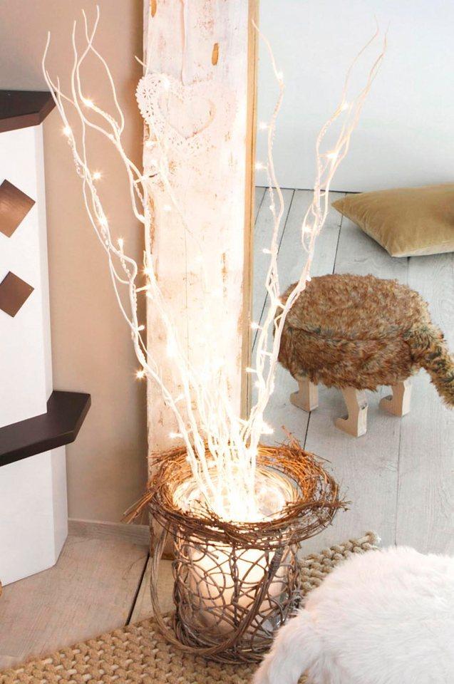 LED-Weidendeko in weiß