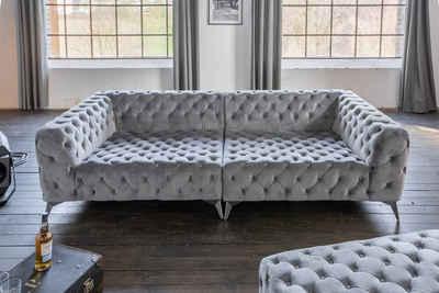 KAWOLA Big-Sofa »NARLA«, Chesterfield versch. Farben mit o. ohne Hocker