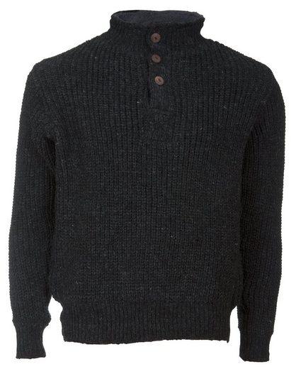 DEPROC Active Wollpullover »Wollpullover mit Fleece ELKFORD MEN CS«