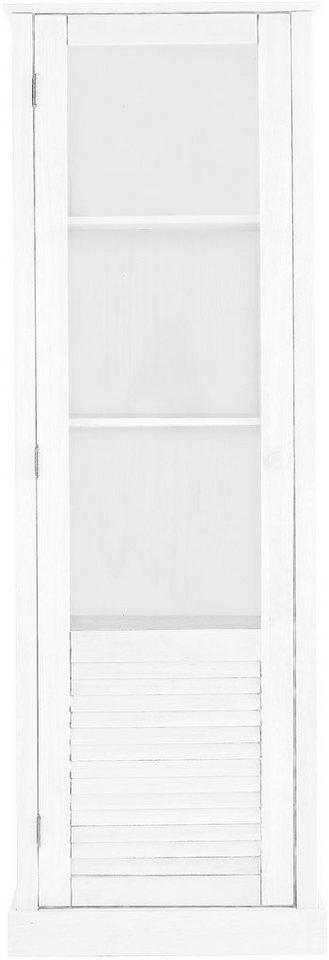 Vitrine, Home affaire, Breite 60 cm, Höhe 180 cm in weiß