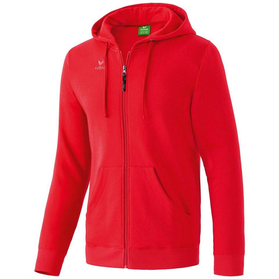 ERIMA Hooded Jacket Kinder in rot