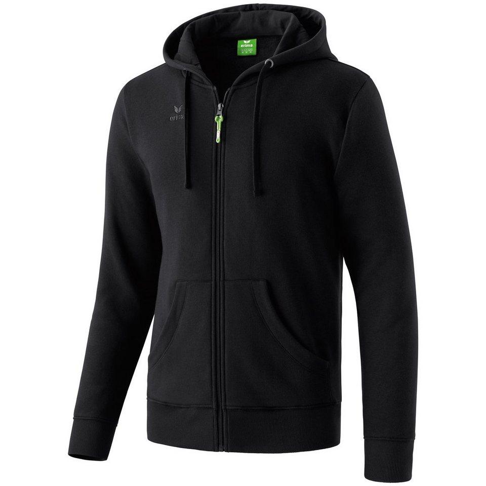 ERIMA Hooded Jacket Herren in schwarz