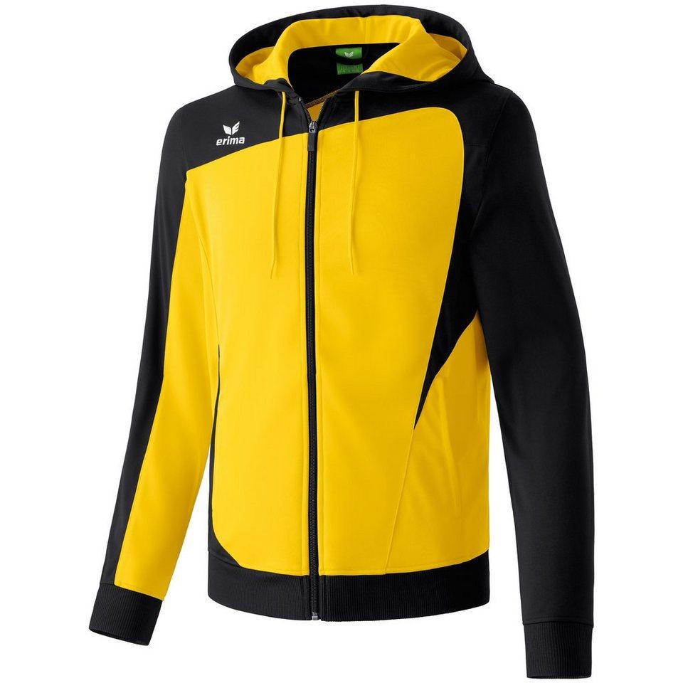 ERIMA CLUB 1900 Trainingsjacke mit Kapuze Kinder in gelb/schwarz