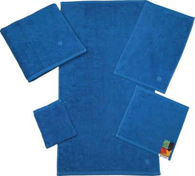 ROSS Waschhandschuh »Vita« (6-tlg), mit gesticktem ROSS-Emblem