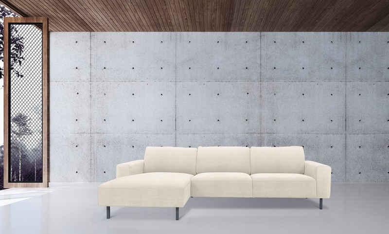furninova Ecksofa »Sydney«, Scandinavisches Design, hohe Füße für Saugroboter