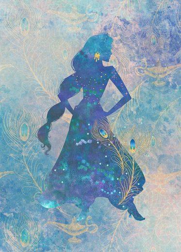 Komar Fototapete »Jasmin Silhouette«, glatt, mehrfarbig, Comic, (Packung)