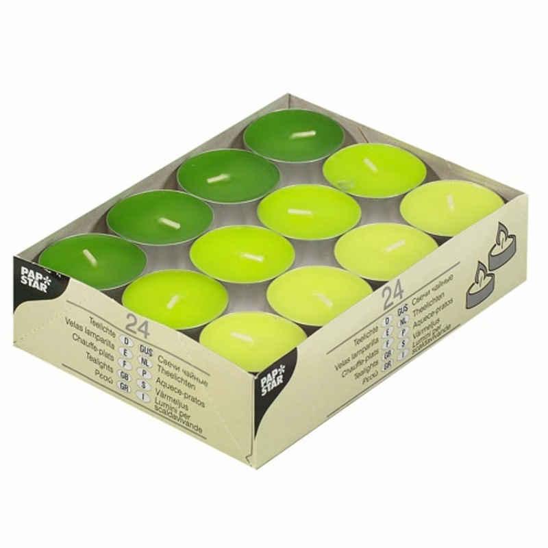 PAPSTAR Teelicht »24 Teelichter grün 38mm Ø, 16mm Höhe«