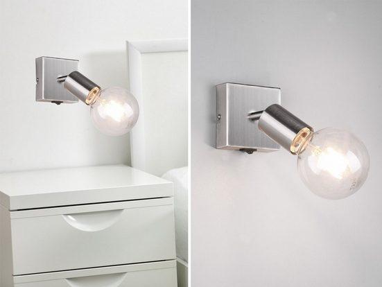 meineWunschleuchte LED Wandstrahler, schwenkbare Nachttisch Wand-Lampe innen mit Schalter, Wandspot für Jugendzimmer, Kinderzimmer, Küchenlampe, Büroleuchte, Flur-Beleuchtung